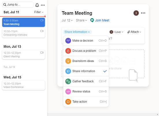 workspace for virtual meetings