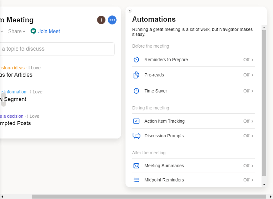 automation for virtual meetings