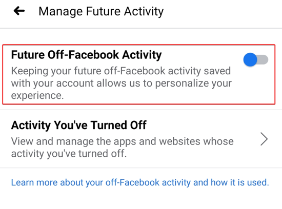 Switch off the Future activity