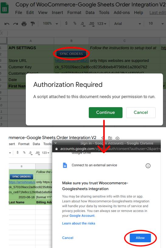 Authorize Google Apps Sript