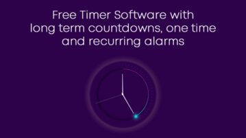 Free Timer Software with long term countdowns, one time and recurring alarms