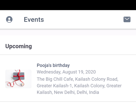 Event created