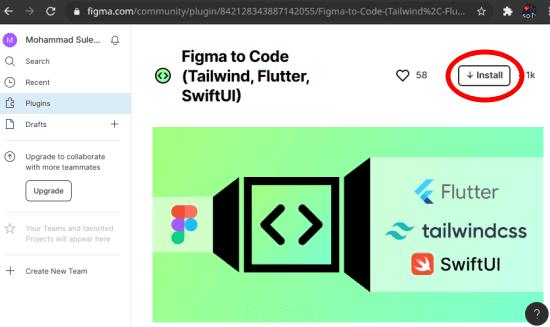 Figma to Code plugin