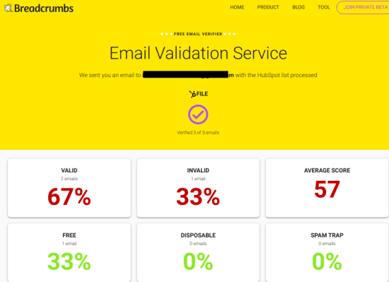 Free Email Verifier to Validate up to 10,000 Emails with 1 click: