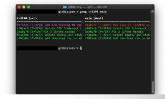 Free tool to compare Git Branches for Commits and Commits order: Gomp