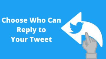 How to Choose Who Can Reply to Your Tweet?
