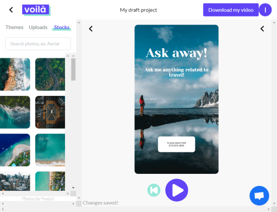 create animated story from photo