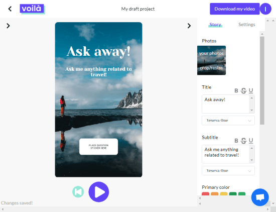 animated stories with text for social media