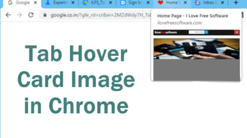 How to See Preview Image of Tabs on Hover in Chrome?