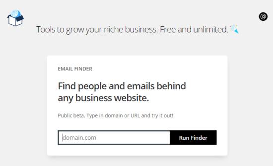 find email addresses from websites
