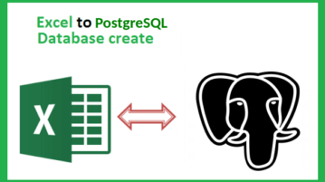 how to convert excel json to PostgreSQL database