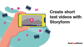 Create short text videos with Storyform