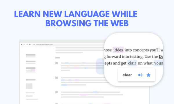 Learn New Language While Browsing the Web: Fluent