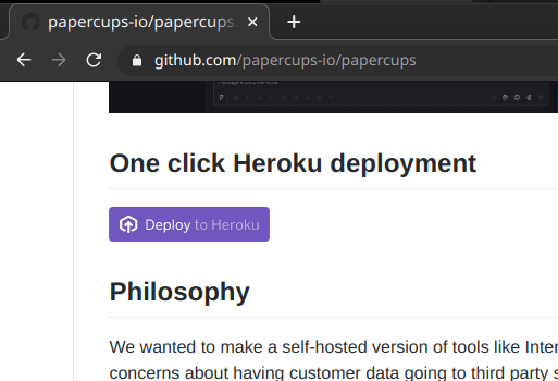 papercups heroku button