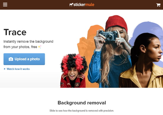 automatically remove photo background
