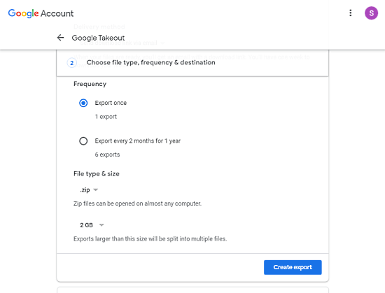 export your gmail data
