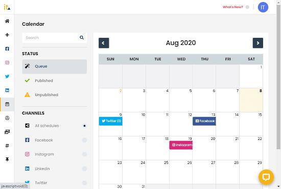 create a post schedule