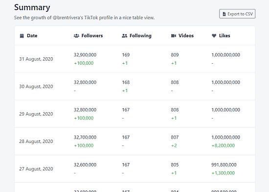 get tiktok profile summary