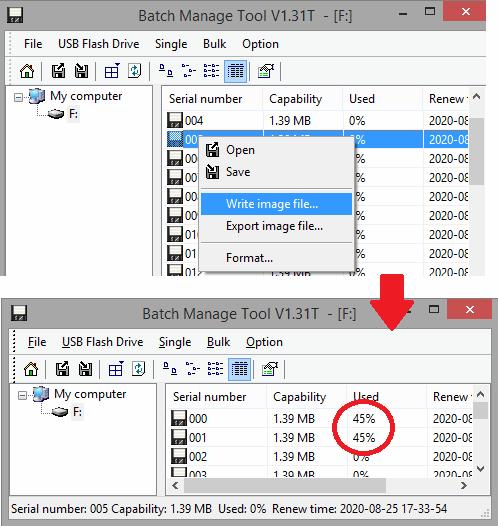 write data to virtual floppy disk