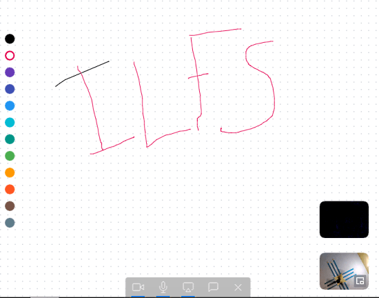 video meeting with whiteboard