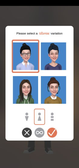 Choose the avatar