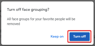 Turn off Facial Grouping