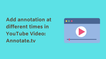 Add annotation at different times in YouTube Video: Annotate.tv
