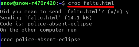Croc send file
