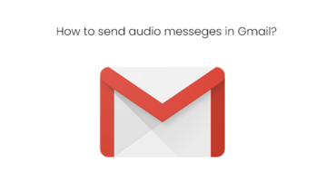 How to send audio messages in Gmail?