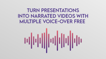 Turn Presentations into Narrated Videos with Multiple Voice-Over Free