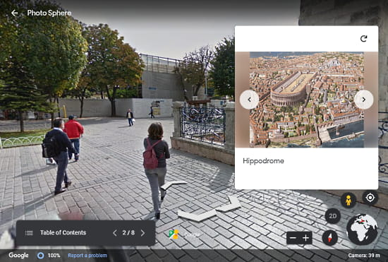 follow audio guides on google earth