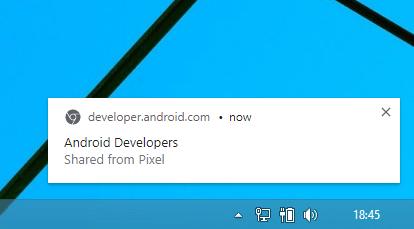 send webpage to desktop with chrome
