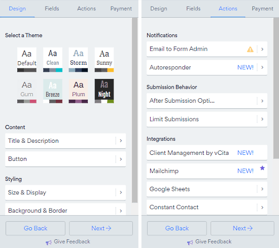 customize form for zoom meetings
