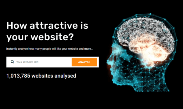 Free AI Visual Score Generator to see How Attractive is Your Website