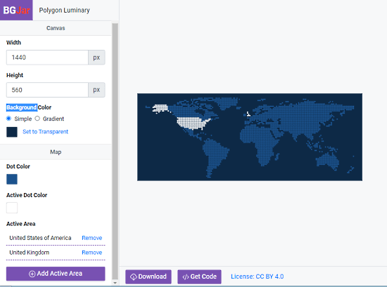 create a custom world map svg background
