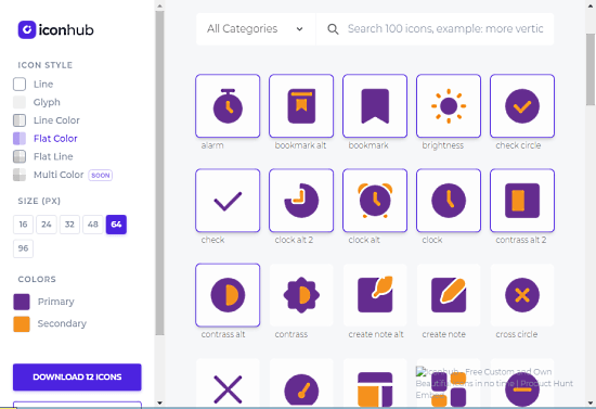 download selected or all svg icons