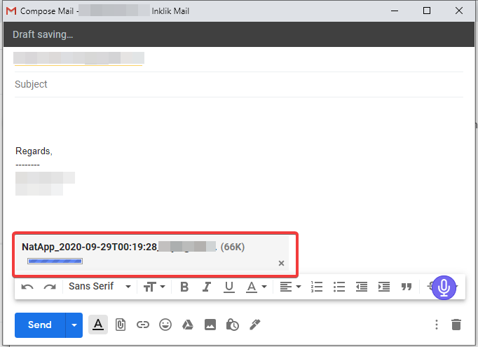 Attach and Compose mail