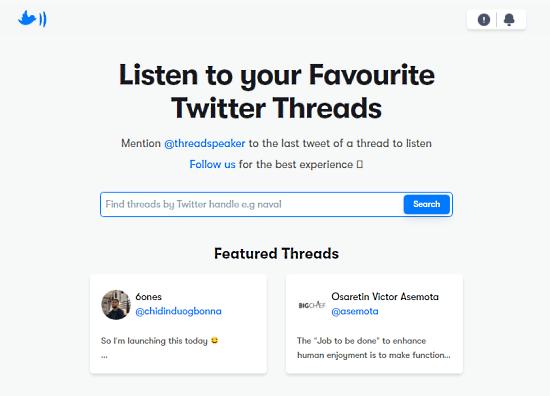 tweets to speech