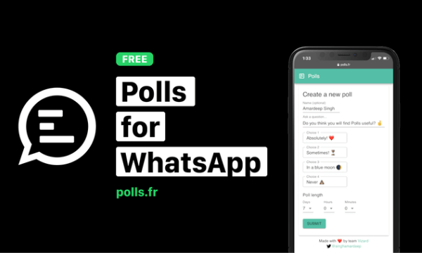 Create and Share Polls on WhatsApp