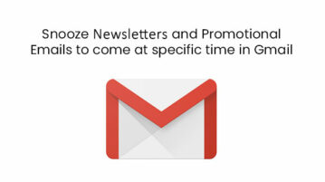 Snooze Newsletters and Promotional Emails to come at specific time in Gmail