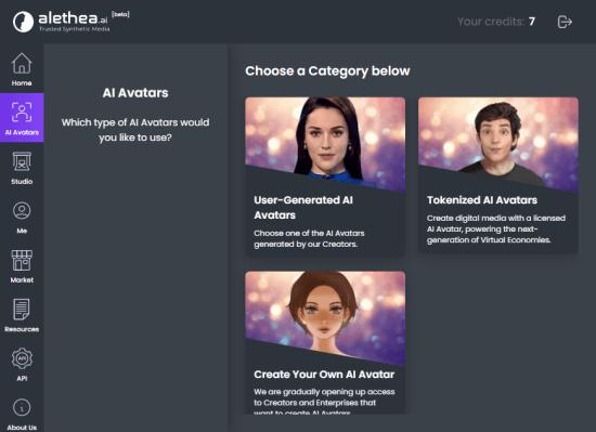 choose type of avatar