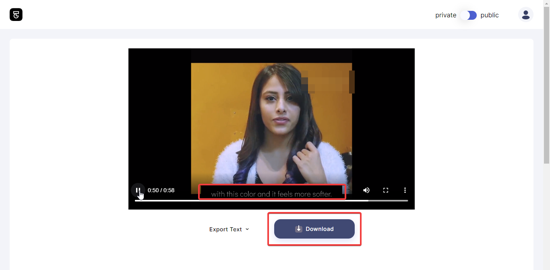 Download edited video