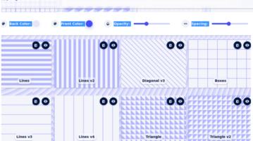 Download Editable CSS background Patterns with this Free Website