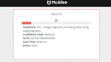 Free Steganography Detection Tool for Images by McAfee