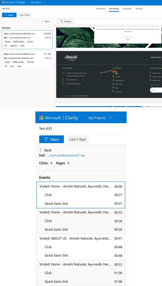 Microsoft Clarity Session Recording