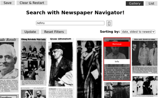 News paper navigator search results