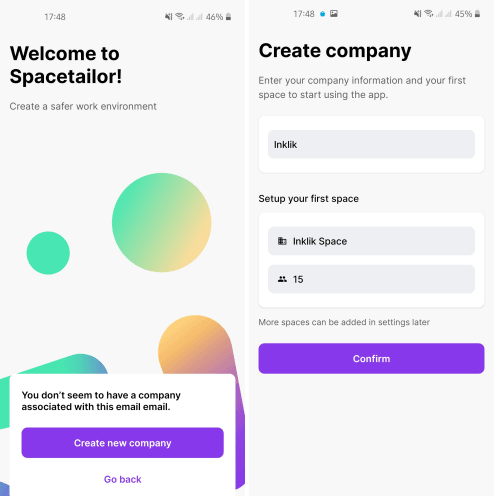 Spacetailor create company