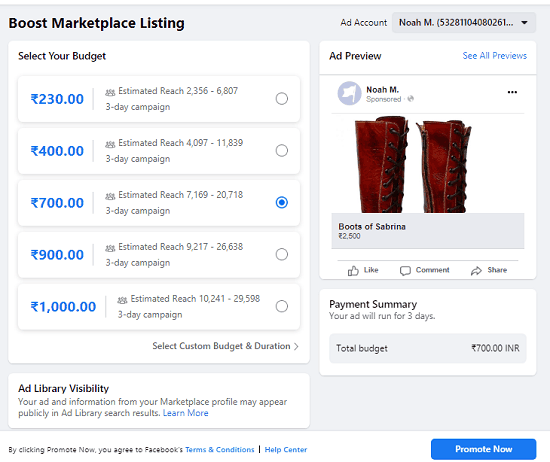 boost listing faceboo marketplace