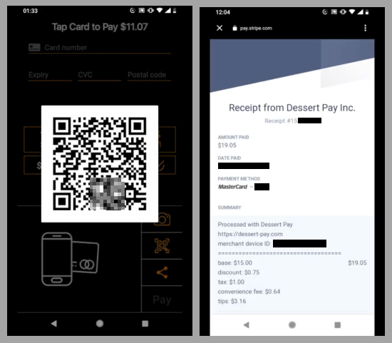 receive card payments on android directly