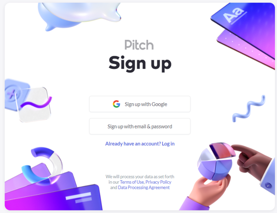 Sign up to Pitch